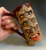 Six Eyed Freak Beer Mug- FOR SALE by thebigduluth