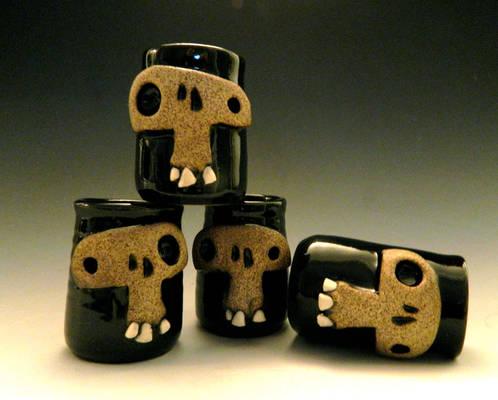 Skull Shot Glasses- for sale on Etsy