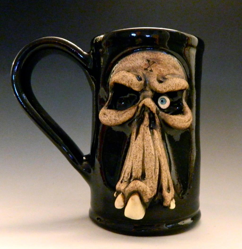Ceramic Mugs For Sale Part - 30: ... Mr. Skull Beer Mug- For Sale On Etsy By Thebigduluth