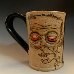 Illustrated and Sculpted Mug for SALE on Etsy