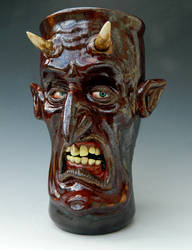 Drunken Devil Beer Mug- FOR SALE by thebigduluth
