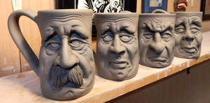 More Face Mugs on the shelf-WIP