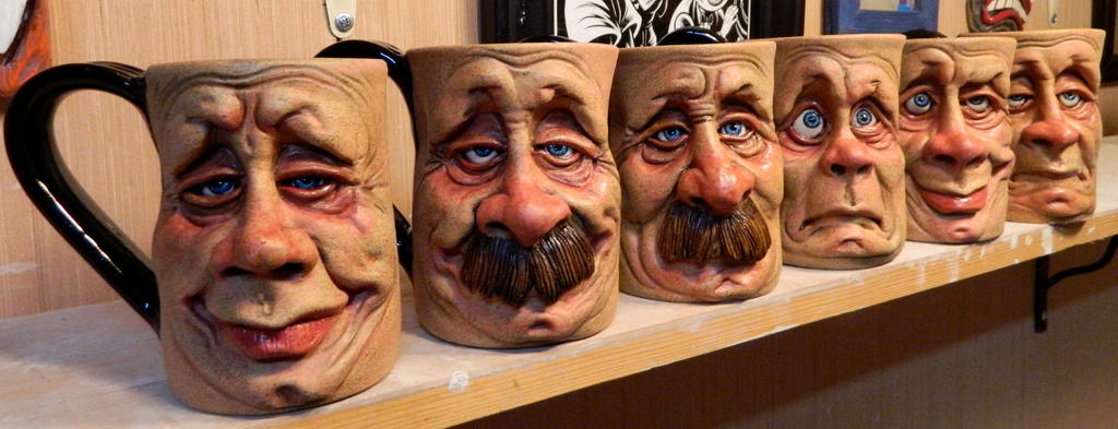 Face Mugs Group Photo- Complete by thebigduluth