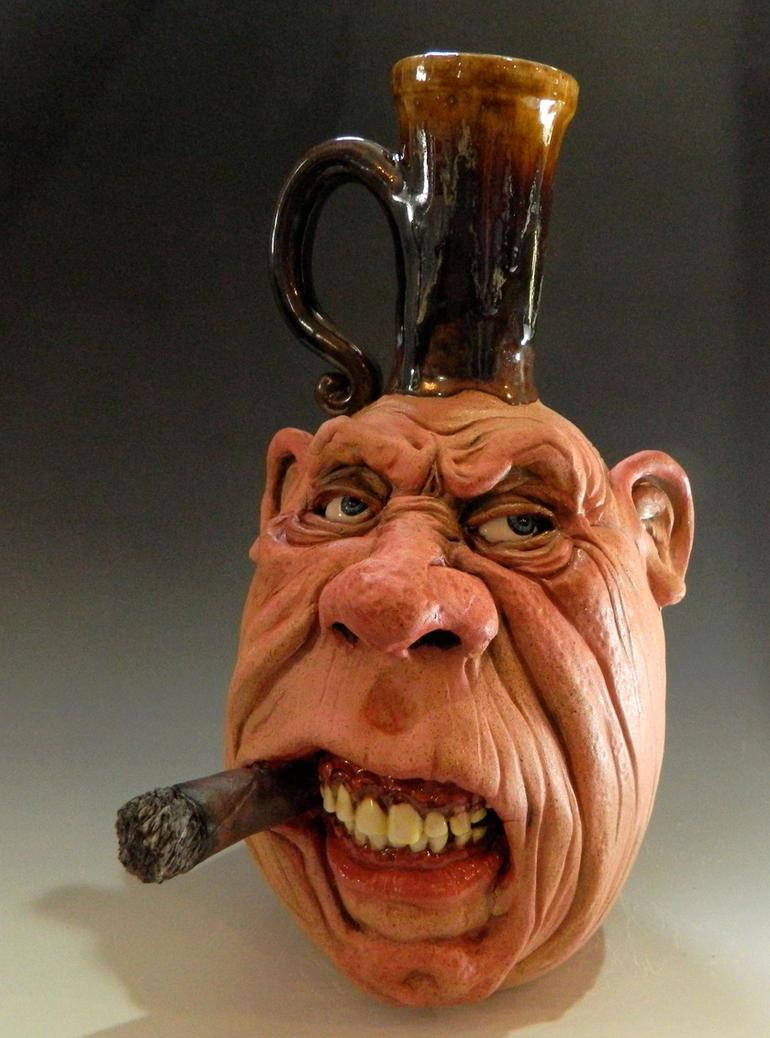 Cigar Smoking Bastard Jug by thebigduluth