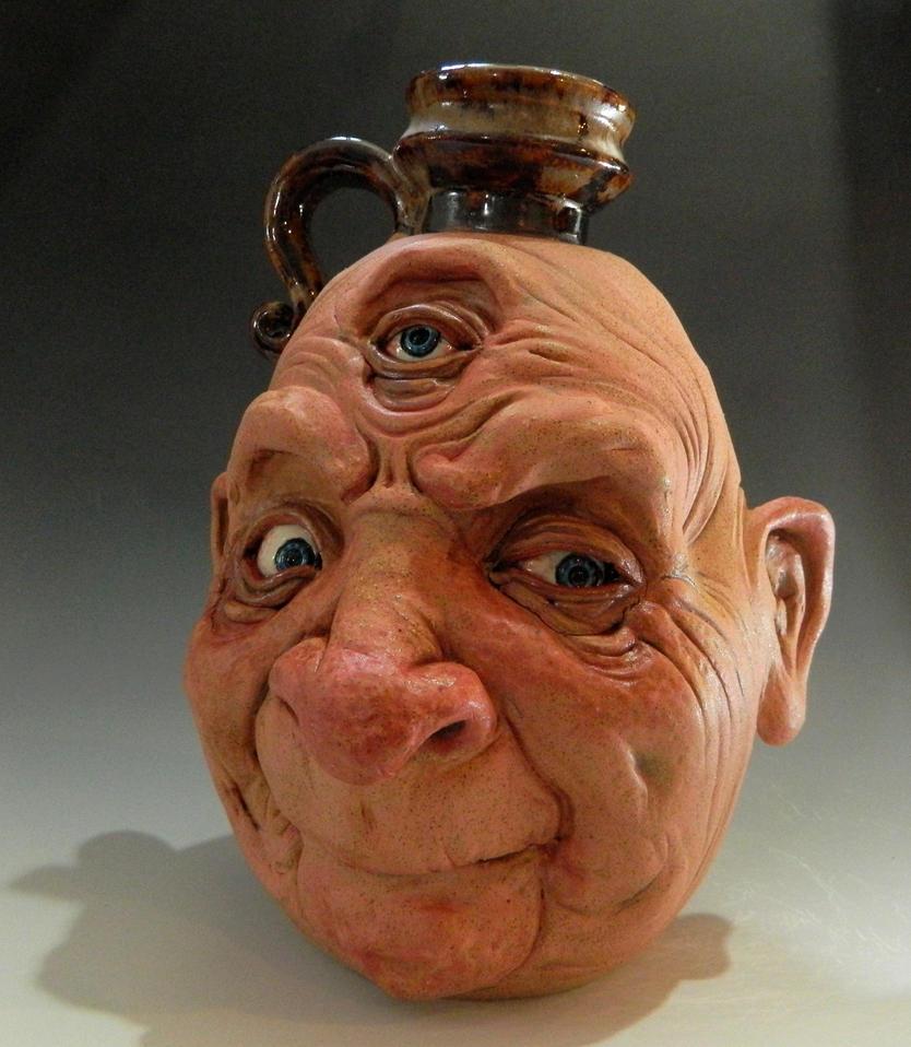 Three-Eyed Old Man Jug by thebigduluth