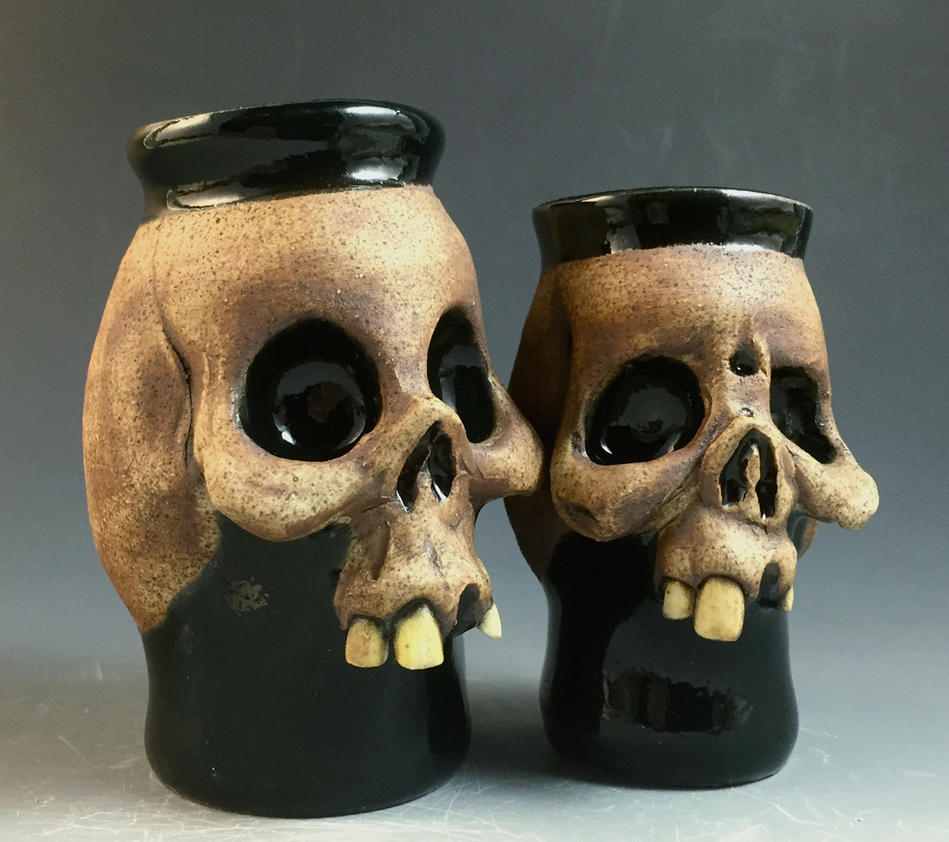 Skull Shot glass couples- FOR SALE on Ebay by thebigduluth