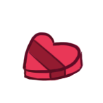 Heart-Shaped Box of Chocolates by Canvas-Cutie