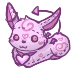 Valentine's Harevil Plushie by Canvas-Cutie