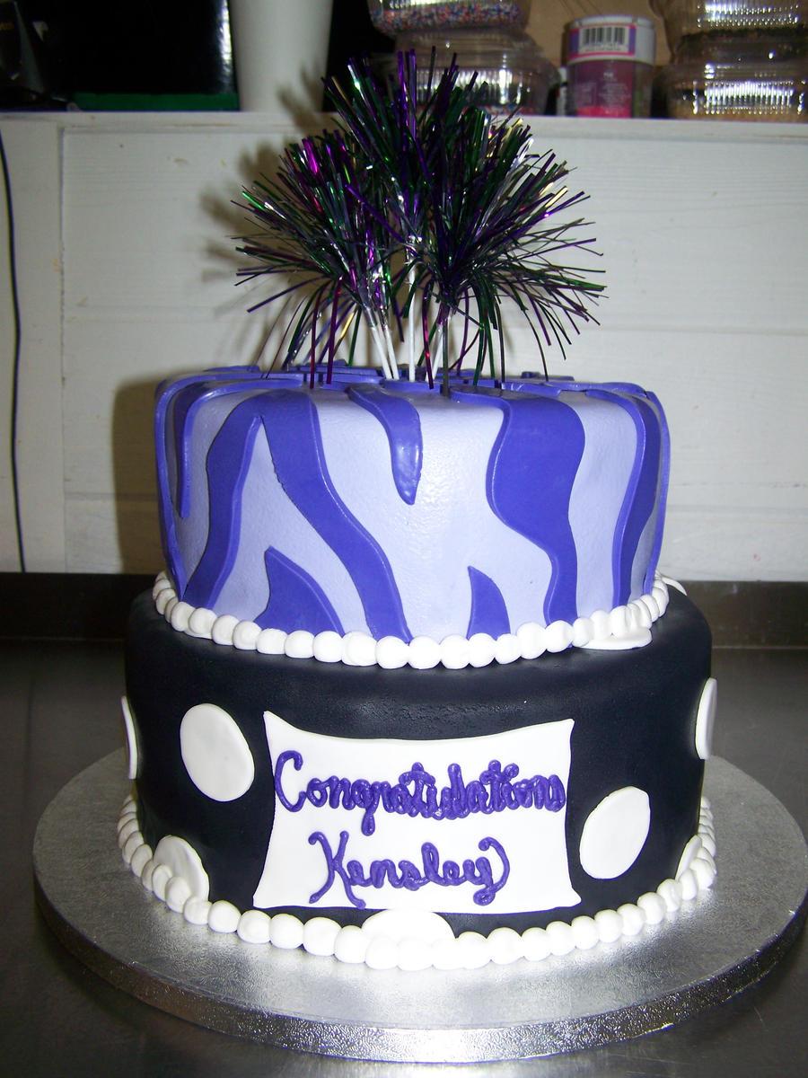 purple graduation cake by perpetuousdreemr on DeviantArt