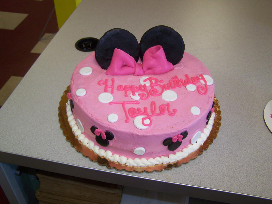 Cake Designs Minnie Mouse : Pink Minnie Mouse Cake by perpetuousdreemr on DeviantArt