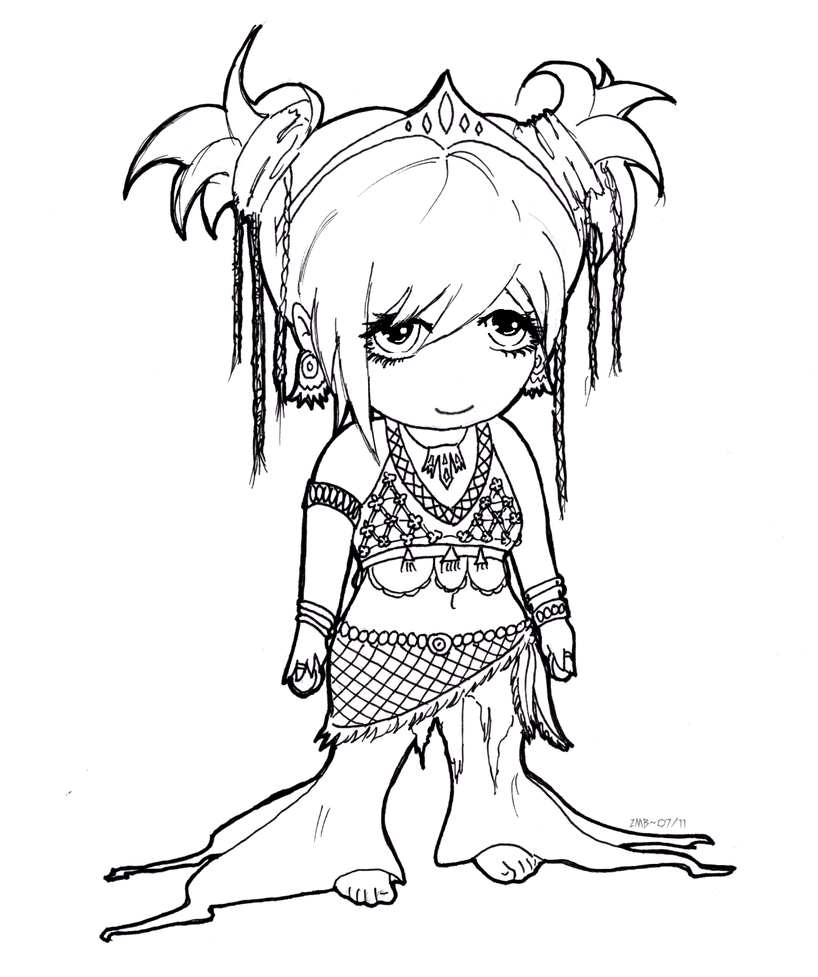 Tribal Dance Chibi by LoveoftheDark