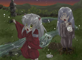 Inuyasha::Catching Fireflies:: by Holic-chan