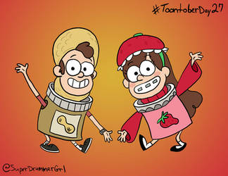 Toontober Day 27 - Dipper and Mabel
