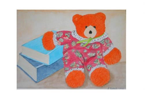 Teddy Bear and books