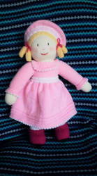 Rosie (Hand-knitted Doll) by Supach
