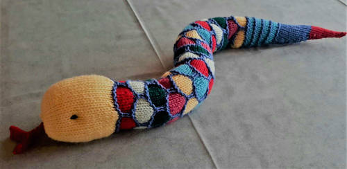 Sid the snake (Hand knitted) by Supach
