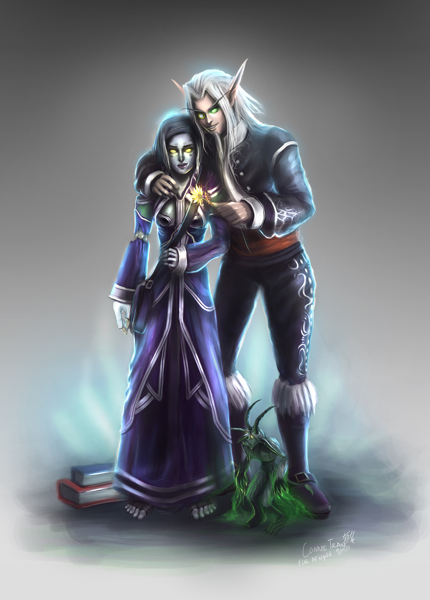 Undead and Belf love by conniebees