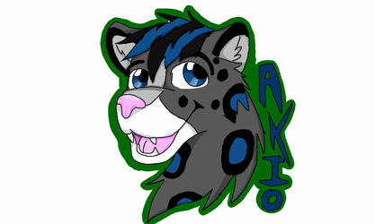 Akio Leapord Badge by NeonFox-furry