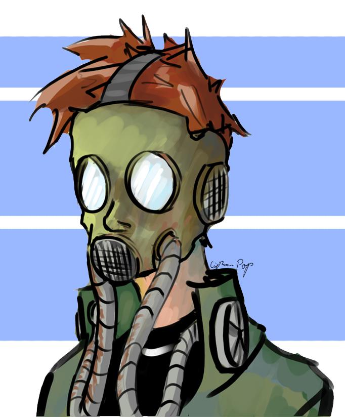Gas Mask Portrait [10] by Beast7Gamer