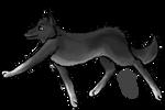 Running Wolf by miyumicat