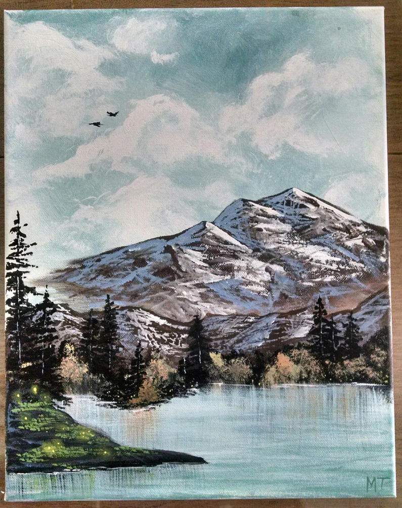 Mountain Landscape by miyumicat
