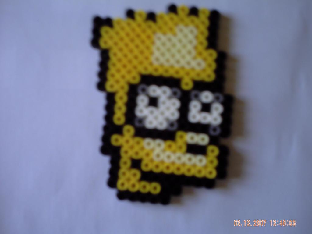 Portrait Bart Simpson By Perles Hama On Deviantart