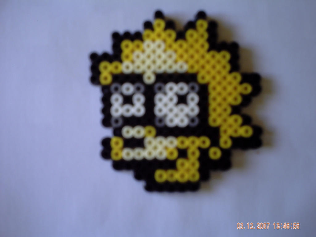 Portrait lisa simpson by perles-hama