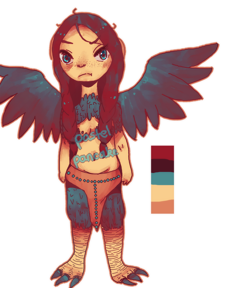 Harpy Adoptable #1. CLOSED. by PastelPancake