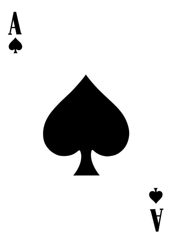 spade card template  Ace of Spades template by Leeanix on DeviantArt