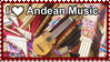 I Love Andean Music Stamp 1 by Leeanix