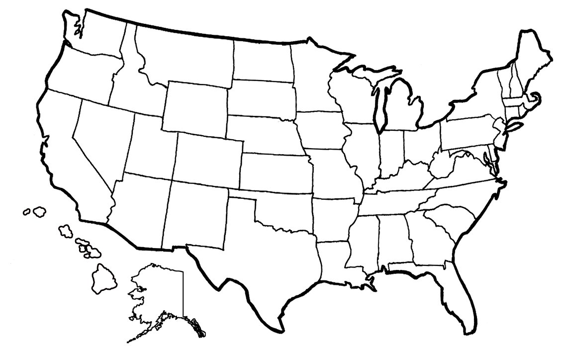 us states map coloring pages | State Coloring Map by Leeanix on DeviantArt