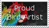 Proud bird artist stamp by Leeanix