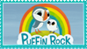 Puffin Rock Stamp by Leeanix