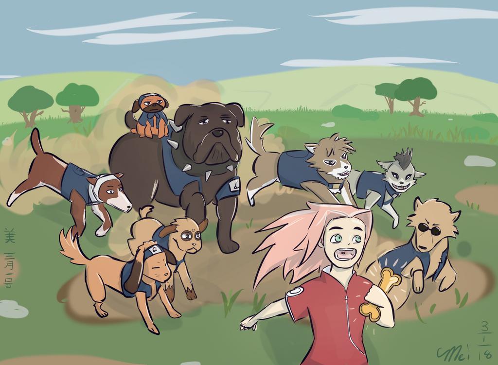 Run Doggos Run! by TheLadyShenanigan