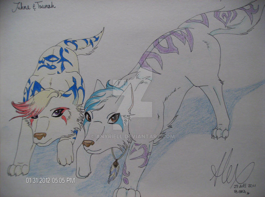 Juhne et Tsunah by Anyriell