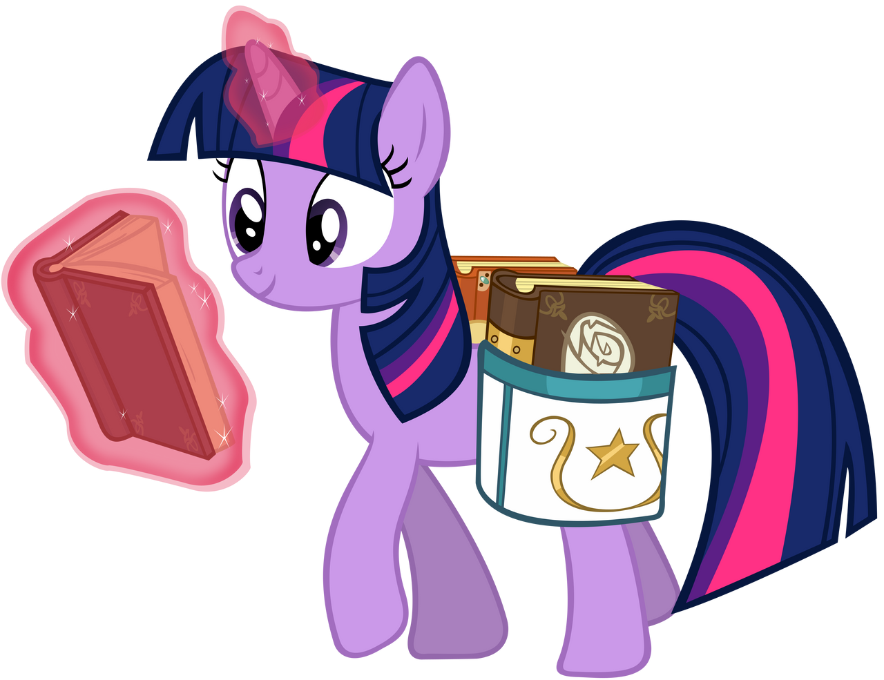 Twilight Sparkle (reading on the go) by DrFatalChunk