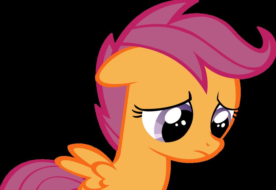 Sad Scootaloo by RainbowCrab