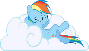 Sleeping Dashie by RainbowCrab