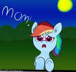 Filly rainbow Dash. Moooom!
