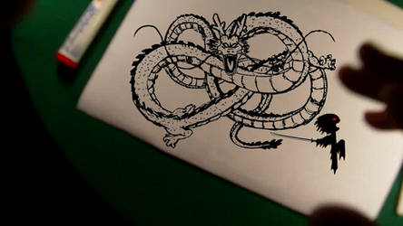 Shenlong (digital drawing) + Speed Drawing by LevinskTM