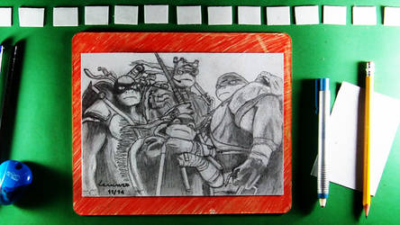 Teenage Mutant Ninja Turtles 2014 + Speed Drawing by LevinskTM