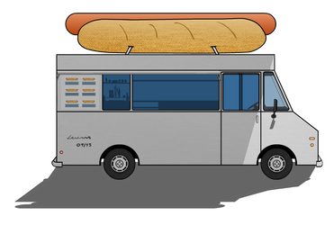 Hot Dog Van + Step by Step Drawing by LevinskTM