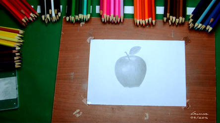 Apple + Speed Drawing by LevinskTM