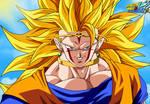 SSJ3 of my Goku's Evil demigra style