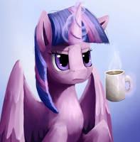 Princesses need coffee too + Speedpaint by Camyllea
