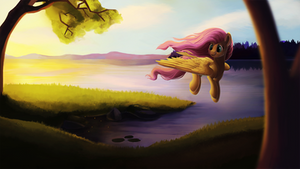 Fluttershy hurrying home