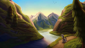 Searching the mountains + Speedpaint