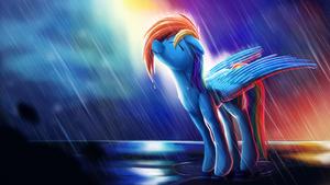 Rainbow Rain + Speedpaint