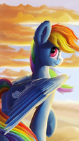 High in the clouds by Camyllea