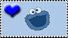 heart cookie monster stamp by Neji-x-Hyuuga